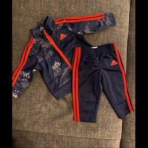Adidas baby track suit set